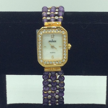 Natural amethyst round beeds 3 layers watch jbg024...