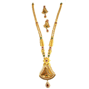 22k Gold Checkers Diamond Antique Necklace With Ea...
