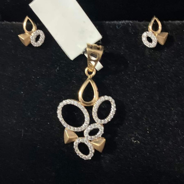 916 GOLD PENDANT SET by