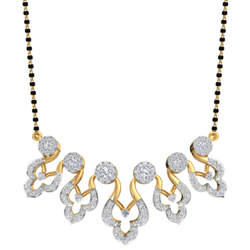 Designed fancy real diamond mangalsutra by