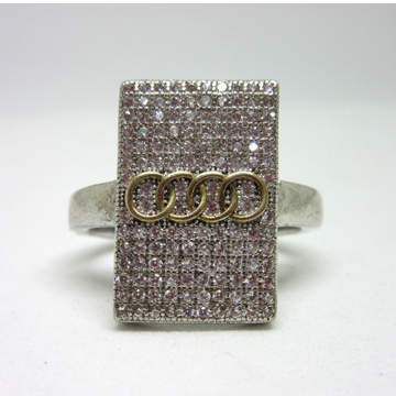 Silver 925 audi logo ring for gents sr925-112