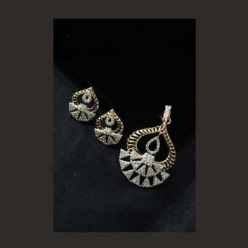 22 K Gold Fancy Pendant Set. nj-p01188