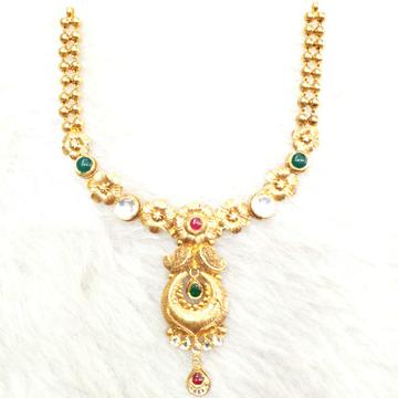 916 Gold Antique Necklace Set MGA - GN009