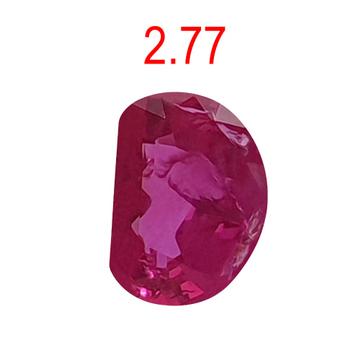 2.77ct half-moon shape pink ruby-manek