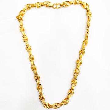 916HM GOLD FANCY PLAIN GENTS CHAIN by Shreeji Silver Palace