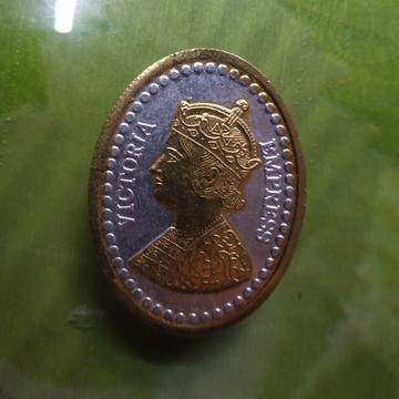 Victoria king(raja) two ton Ganga jamna silver gold coin(sikka) 02