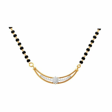 18K Gold Real Diamond Mangalsutra MGA - RMS003