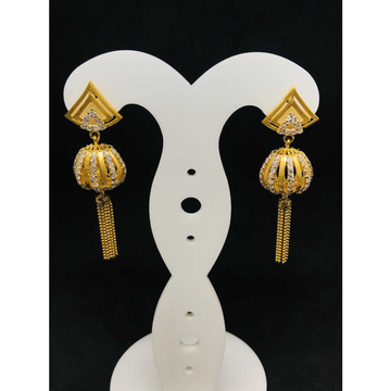 916 Ladies Fancy Gold Earring Er-60055