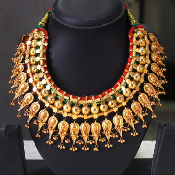 22Kt Gold Indian Design Bridal Necklace Set SRN-N004