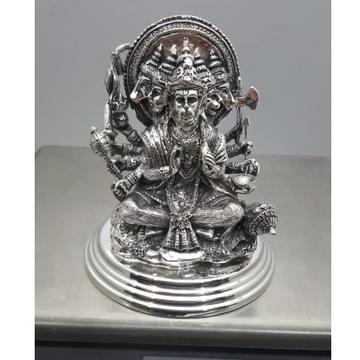 Pure Silver Hanuman Ji Idol In High Antique Finish...