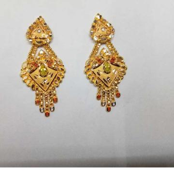 18kt Gold Stylish Earrings