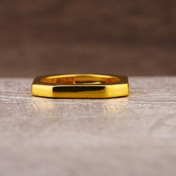 916 Gold Designer Plain Ring LPR245