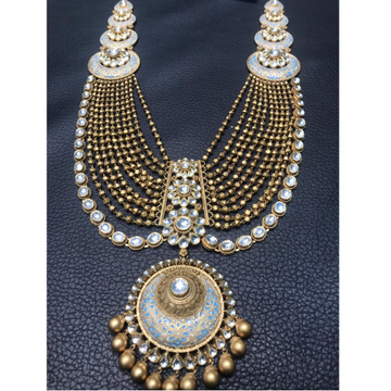 22K Gold Antique Layered Necklace Set