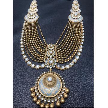 22K Gold Antique Layered Necklace Set