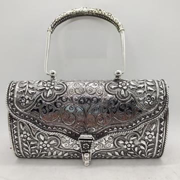 Puran Pure Silver shoulder bag with Stylish Lock i...