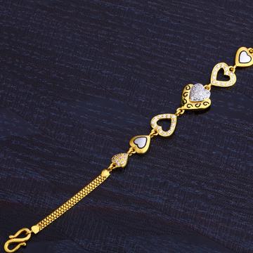 22KT Gold Cz Designer Hallmark Bracelet LB270