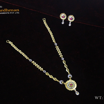 22ct cz fancy set by