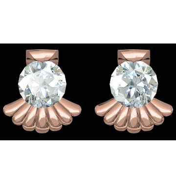 18kt cz rose gold diamond tops