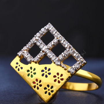 22CT Ladies stylish Gold CZ  Ring LR715
