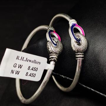 silver fancy baccha kada RH-BK617