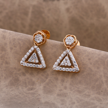 750 Rose Gold exclusive Women's CZ Earring RE181