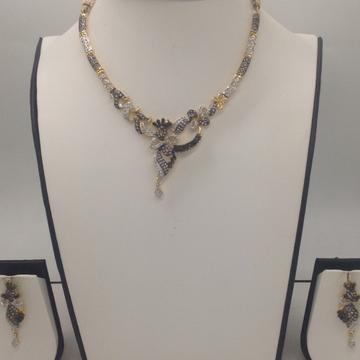 Black And White CZ Stones Necklace Set JNC0059