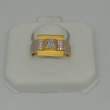 916 Gold CZ Ring For Men MJ-R003