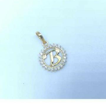 Gold Alphabet B pendants