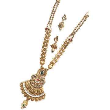 916 Gold Antique Necklace Set MGA - AN001