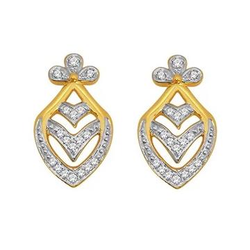 18k gold real diamond fancy earring mga - rde006