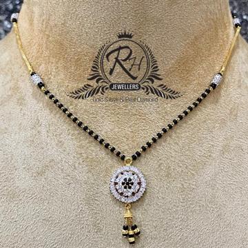 22 carat gold latest ladies mangalsutra RH-MS605