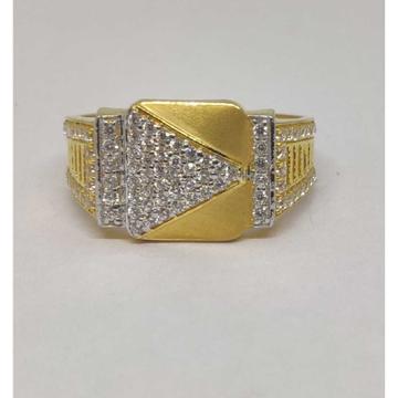 916 gents fancy gold Ring Gr-28603