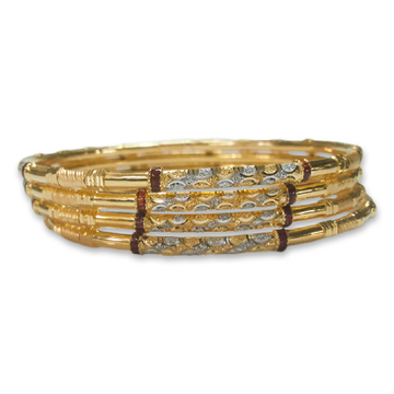 SIMPLE 22KT/916 GOLD COPPER KADLI BANGLE by