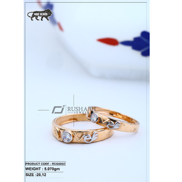 Rose gold couple ring rcg0002