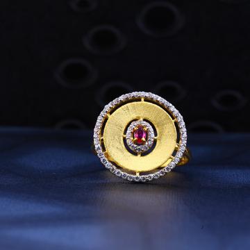 916 Gold Stylish Hallmark Ring LR34