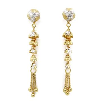22K gold fancy hanging earring by