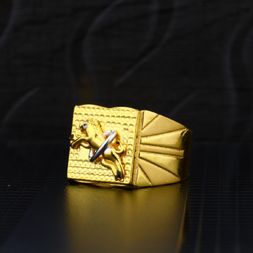 Mens 916 Plain Gold Ring-MPR01