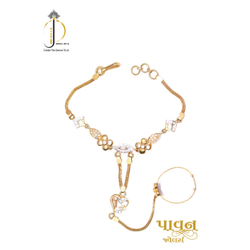 22KT/ 916 Yellow Gold Wedding Hath panjo Bracelet... by