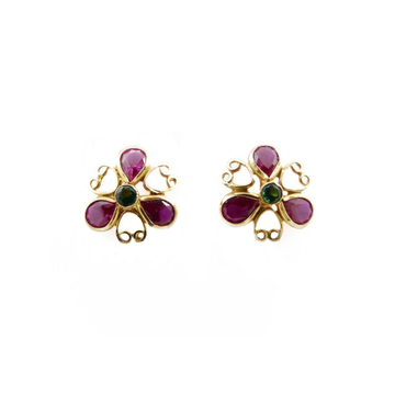 18K Gold Colour Stone Tops by