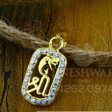18kt Cz Gold Fancy Ladies Pendant