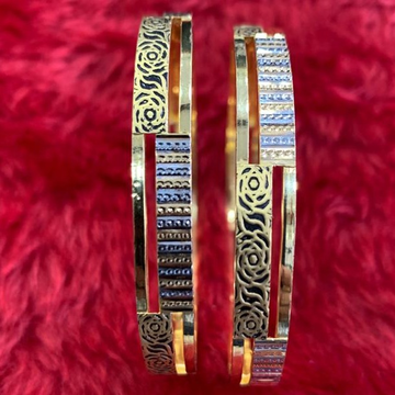 22KT/ 916 Gold Double Tone fancy Festival Cooper Kadli for Ladies by