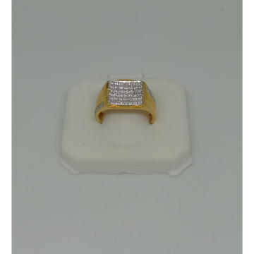 916 Gold CZ Gents Ring MJ-R006