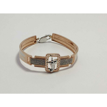 92.5 Sterling Silver Square Rodyam Pis Rose Gold Kada Ms-3890