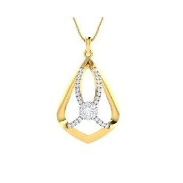 22kt, 916 Hm, Yellow Gold Freestyle Bow Design Pendant Jkp011.