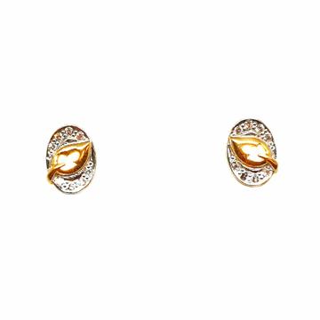 22K Gold Oval Shaped Fancy Earrings MGA - BTG0373