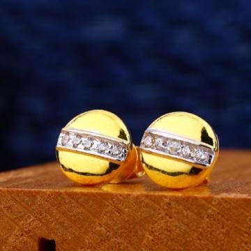 22 carat gold designer fancy earrings rh-le480