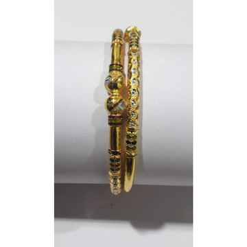 916 Gold Colored Stone Copper Kadli by