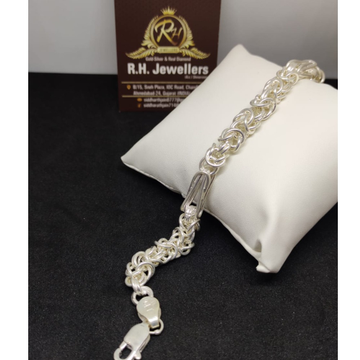 SILVER Gents verticle fancy bracelet RH-BL686