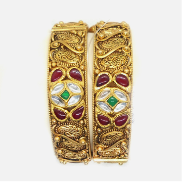 22KT Gold Antique Bridal Bangles RHJ-6019