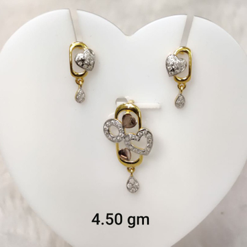 copper plated daily wear Cz pendant set by